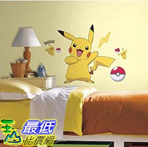 [美國直購] RoomMates RMK2536GM Pokemon Pikachu Peel and Stick Wall Decals 牆貼花
