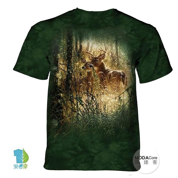 摩達客-(預購)(大尺碼4、5XL)美國進口The Mountain 金色鹿時刻 純棉環保藝術中性短袖T恤
