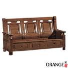【采桔家居】伊格麗 典雅風樟木實木三人座收納式沙發椅(收納抽屜設置)
