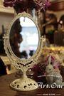 ART ONE 居家設計館AA20513歐式銅雙面鏡(中)