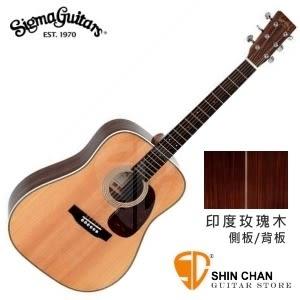 【41吋單板民謠吉他】Sigma  DR-1HST【DR1HST/雲杉面單板/玫瑰木側背板/經典D桶】【木吉他】