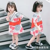 女寶寶夏裝新款短袖T恤裙2020女孩印花連身裙女童洋裝夏季洋氣長款T恤 LR24792『3C環球數位館』
