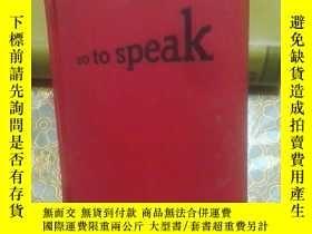 二手書博民逛書店so罕見to speak (具體如圖)Y231007 by El