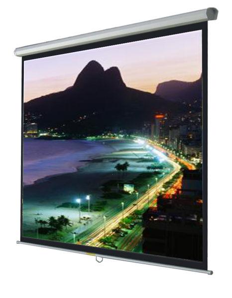 [卡瑪斯投影機銀幕] 98吋壁掛手拉式投影布幕184×186cm 席白下拉投影幕一年保固 含稅含運