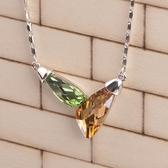 925純銀項鍊 水晶吊墜-繽紛糖果生日母親節禮物女飾品5色73aj183【巴黎精品】