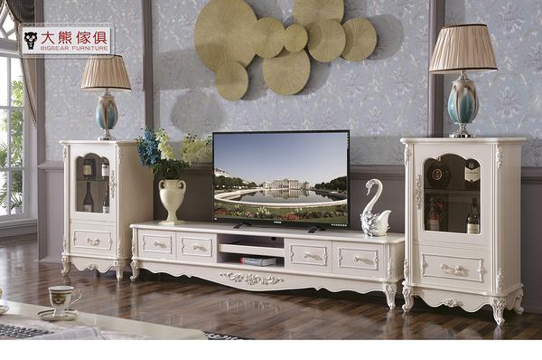 【大熊傢俱】LB906 歐式電視櫃 視聽櫃 玄關櫃 櫥櫃 餐邊櫃 收納櫃 展示櫃 地櫃 矮櫃 CD櫃 書櫃 邊櫃