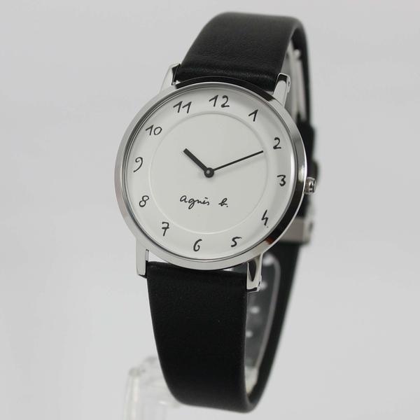 【萬年鐘錶】agnes b. 法式簡約時尚風 腕錶 銀x白 33mm 7N00-0BC0S(BG4001P1)