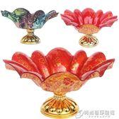 亞克力水果盤高腳盤塑料喜慶糖果盤瓜子盤茶盤有托圓形帶底座花型 時尚芭莎鞋櫃