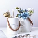 筷子簍筷子筒家用收納罐客廳插花瓶餐具收納...