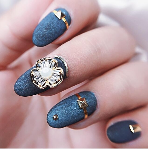 指甲油 新款美甲鋯石飾品配件DIY指甲裝飾鉆電鍍真金不掉色的指甲鉆C1-24【限時八五鉅惠】