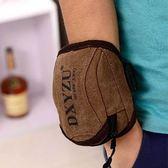 男女休閑戶外跑步手機臂包帆布手腕包戶外運動手機臂套手臂包臂帶