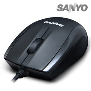 SANYO 三洋 M8 環保USB光學滑鼠 黑色