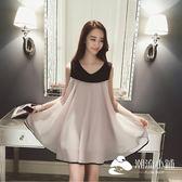 孕婦洋裝 夏季新款雪紡韓版寬松中長款大碼無袖孕婦連衣裙