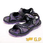 【G.P】彈力氣墊時尚休閒涼鞋 女款-紫(另有藍)