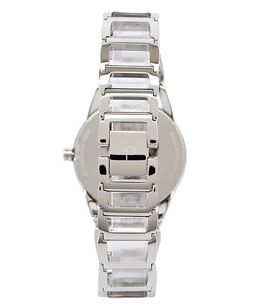 CK 高貴優雅簍空女性手錶(K3G23126)-銀面X銀/34mm