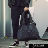 男士斜背包休閒單肩包男士側背包手提旅行包運動包健身包行李包青年潮大容量【全館免運】