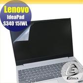 【Ezstick】Lenovo S340 15 IWL 靜電式筆電LCD液晶螢幕貼 (可選鏡面或霧面)