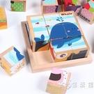 兒童3D立體拼圖木質積木六面畫9粒制早教益智幼兒園456歲寶寶玩具 小時光生活館