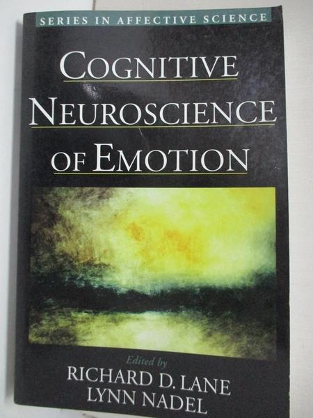 【書寶二手書T9/大學理工醫_KFM】Cognitive Neuroscience of Emotion