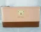 【震撼精品百貨】MILK TEDDY _泰迪熊 ~ 皮製筆袋『咖啡』