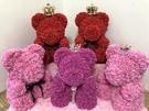 520款玫瑰熊.3公分PE花朵抱抱熊.(蝴蝶款.金皇冠蝴蝶結.銀皇冠珍珠鍊)共有16種顏色