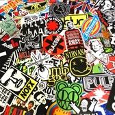 100張歐美搖滾樂隊標志貼紙rock個性吉他貼畫筆記本電腦行李箱貼