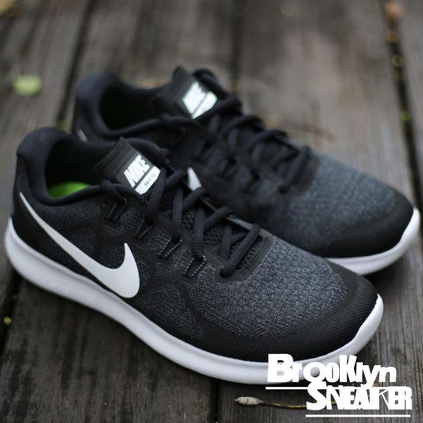 Nike Free RN 2017 黑 白 基本款 慢跑鞋 情侶  男  (布魯克林) 2017/4月 880839-001
