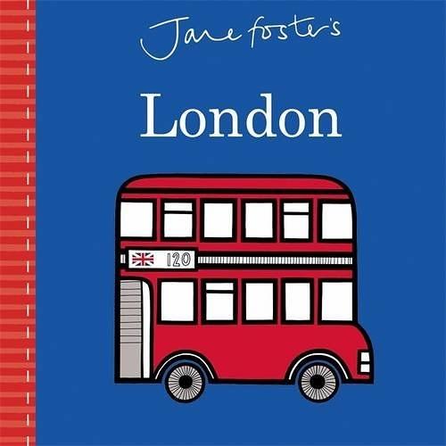 【高質感幼兒城市探索】JANE FOSTER'S LONDON  /硬頁書 ※北歐風.圖騰設計大師作品 ※