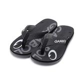 GAMBOL 印花夾腳拖鞋 黑灰 GM11303 男鞋