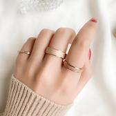 【新飾界】戒指:日韓版磨砂鈦鋼男女指環