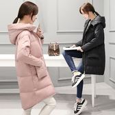 羽絨夾克-長版寬鬆流行百搭女外套2色73it16[時尚巴黎]