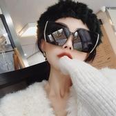 韓版大框不規則黑色偏光墨鏡女大臉個性百搭防紫外線太 優尚良品