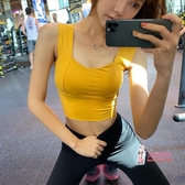 健身文胸 背心式運動內衣女防震聚攏瑜珈文胸跑步訓練速幹健身bra 5色