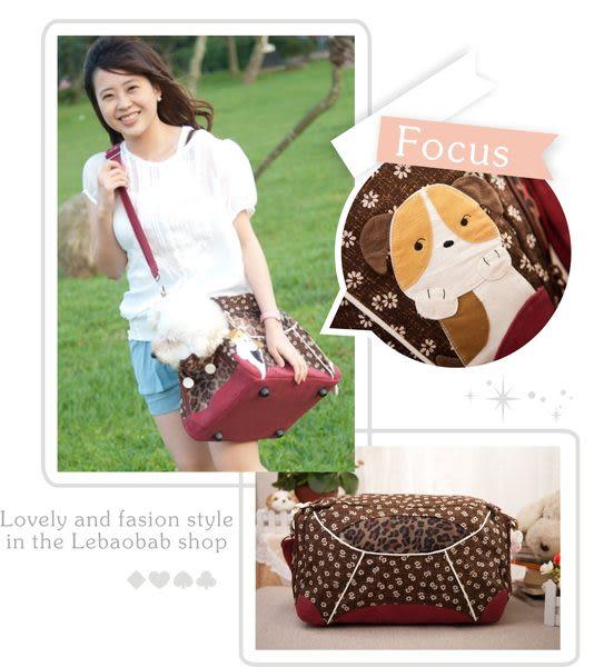 外出袋~Le Baobab日系貓咪包 日風三開式寵物背包/外出提籠/肩背包/斜背包/側背包/拼布包包