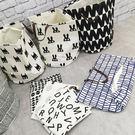 置物籃 洗衣籃 收納 TOOKI & CO【Z432107】北歐風幾何帆布收納袋/雜物置物籃/洗衣籃/收納筒-Sway