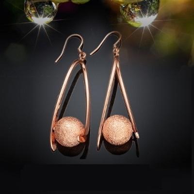 耳環 玫瑰金純銀-圓形造型唯美氣質生日情人節禮物女飾品2色73bu1【時尚巴黎】