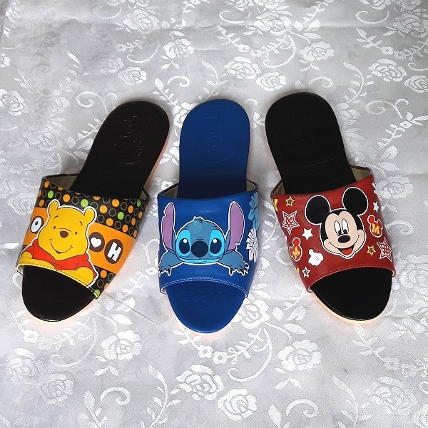 (e鞋院)台灣製迪士尼室內皮拖鞋