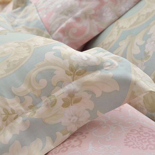 義大利La Belle《莉亞公主》雙人天絲四件式防蹣抗菌吸濕排汗兩用被床包組-綠色