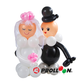 【大倫氣球】新郎新娘-氣球DIY組合包 Just married balloon 氣球佈置 婚禮 派對 party 乳膠氣球