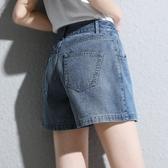牛仔褲女寬鬆韓版A字闊腿顯瘦熱褲