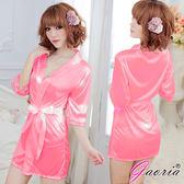 情趣用品 熱戀情愫 誘惑睡衣睡裙 外罩衫 情趣睡袍 玫紅色 N3-0079