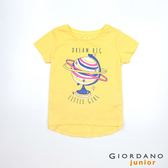 【GIORDANO】童裝夢幻童話印花純棉T恤-13 奶油香蕉黃