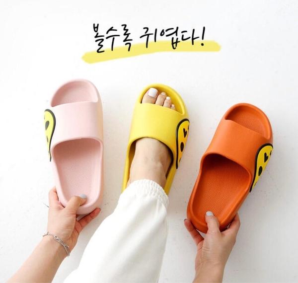 韓國涼拖 正韓防水微笑厚底涼鞋 花漾小姐【預購】