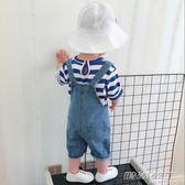 男童女童夏裝 韓版小童寶寶牛仔背帶褲中褲 1-2歲3歲小孩短褲       時尚教主