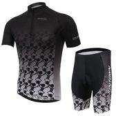 自行車衣-(短袖套裝)-時尚透氣防曬抗紫外線男單車服套裝73er15【時尚巴黎】