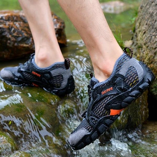 戶外夏季溯溪鞋男女速幹鞋防滑輕便網鞋水陸兩棲釣魚鞋登山涉水鞋 第一印象