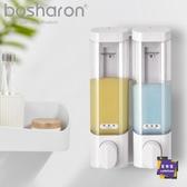 給皂機 免打孔三頭皂液器衛生間壁掛式洗手液盒酒店雙頭洗發水沐浴露盒瓶