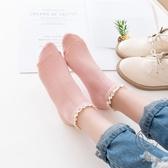 5雙|糖果色短筒襪純棉襪子女薄款蕾絲花邊棉襪短襪潮【小酒窩服飾】