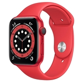 【血氧偵測-98折現貨下殺】 Apple Watch S6 LTE 44mm 紅色鋁金屬-紅色運動型錶帶