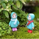 圍巾小梅多肉微景觀公仔(單隻) 盆栽裝飾 CARMO【A028020】